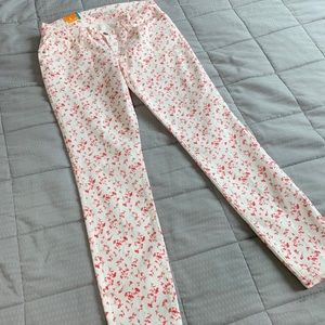 NWT Old Navy Rockstar Fall Floral Printed Jeans 8